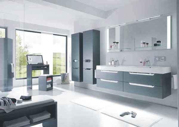 moderne bder anthrazit und klare kante - Ideen Badezimmer