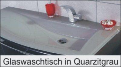 Glas Quarzitgrau Waschtisch