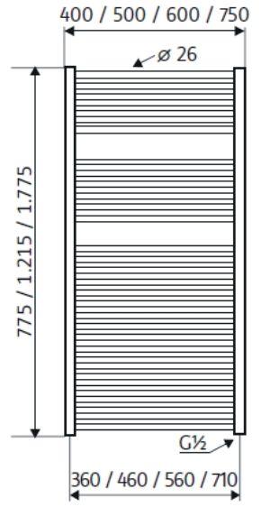 40 cm x 121,5 cm | 543 Watt