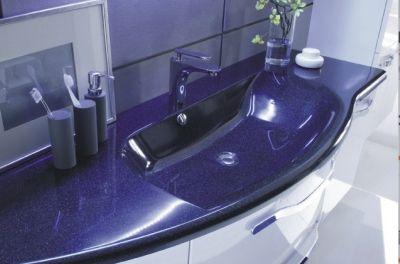 Waschtisch | Schwarz-Metallic