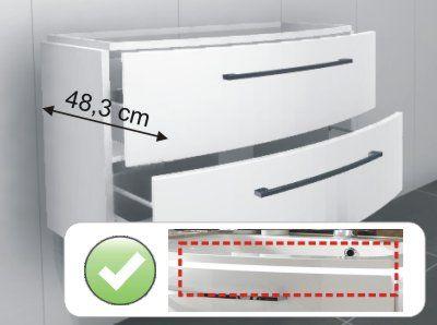 Variante B   Tiefe 48,3 cm + LED