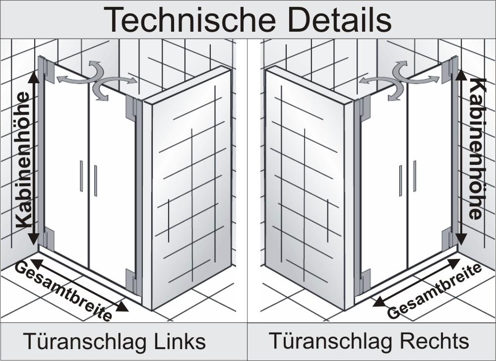 Dusche Pendelt?r Nische : Dusche Pendelt?r Nische : HSK Duschkabine K2P Variante D Nischen