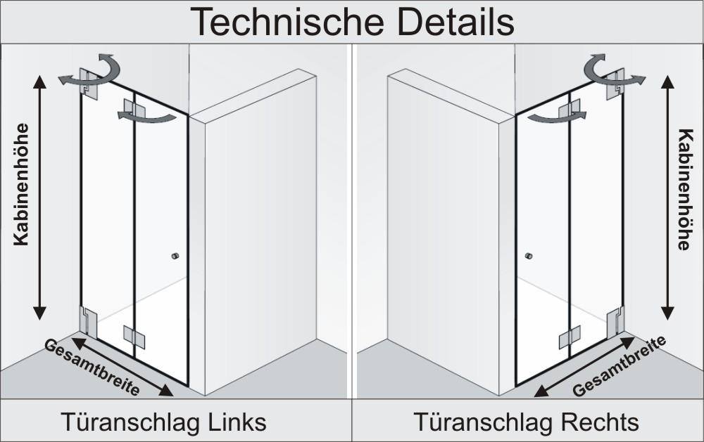 Nischendusche Faltt?r : HSK Duschkabine K2 Variante F Nischendusche + Drehfaltt?r