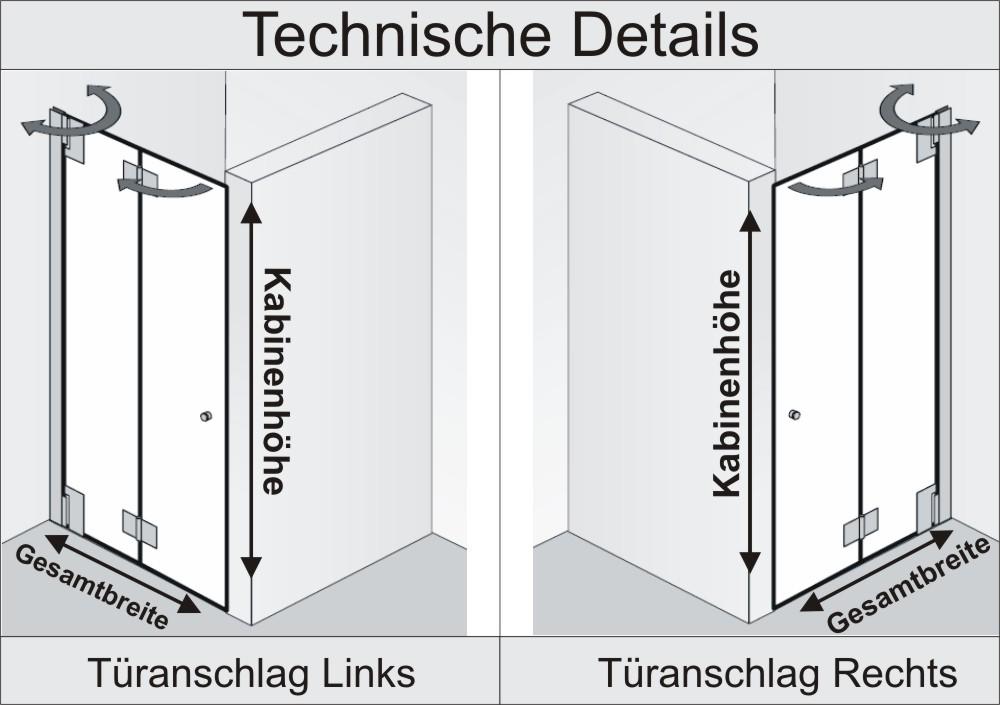 Nischendusche Faltt?r : Montage der Duschkabine auf: –bitte w?hlen– Fliese Duschwanne