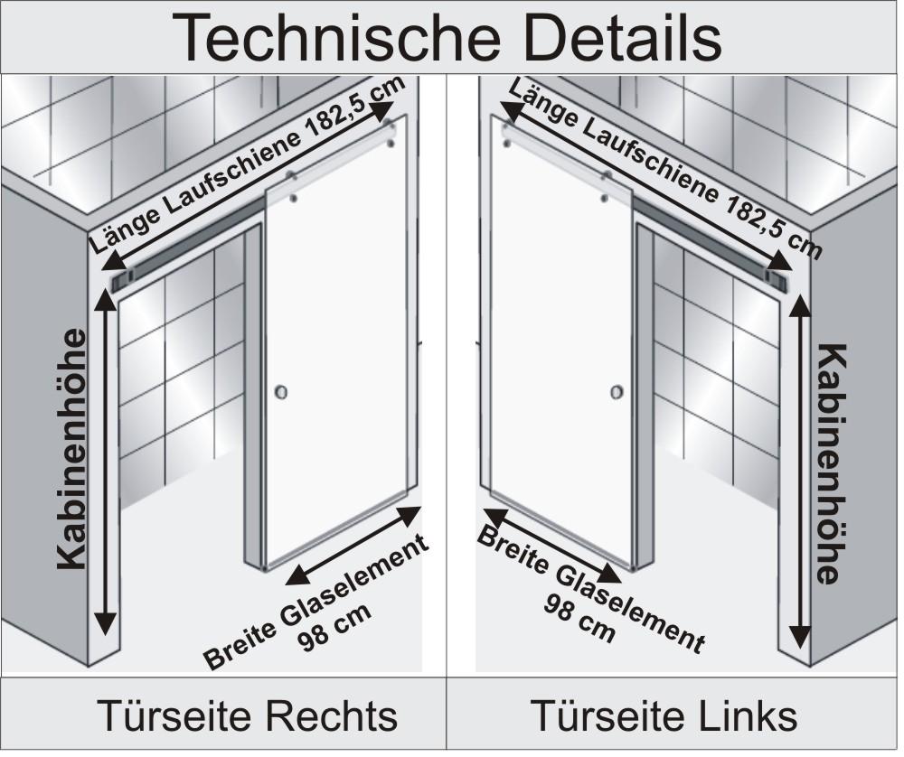 Nischendusche Schiebet?r : HSK Duschkabine Atelier Pur A Nischendusche + Schiebet?r