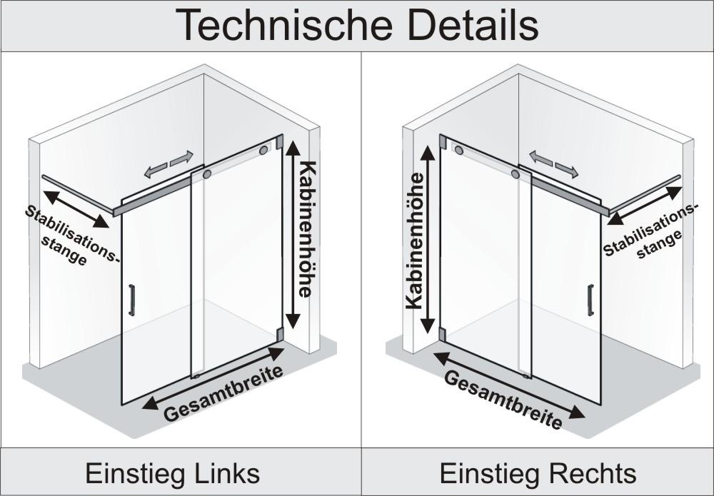 Dusche maße  HSK DUSCHKABINEN CENTER HSK K2 - Arcom Center