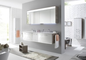 Anza Badmöbel | Doppel-Waschtisch