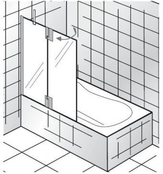Badewannenaufsatz | 2 Teilig