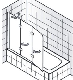Badewannenaufsatz | 3 Teilig