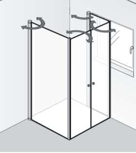 HSK Duschkabine Exklusiv | Fensterlösung