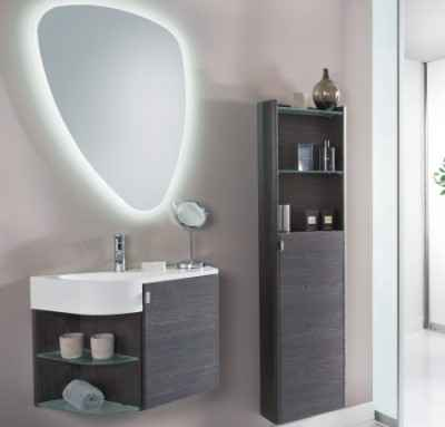 spiegel f r g ste wc mit led yv77 hitoiro. Black Bedroom Furniture Sets. Home Design Ideas