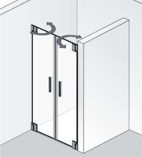 Nischendusche 2 Türen