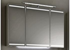 Pelipal PCON Spiegelschrank | Eckig mit LED oben und unten