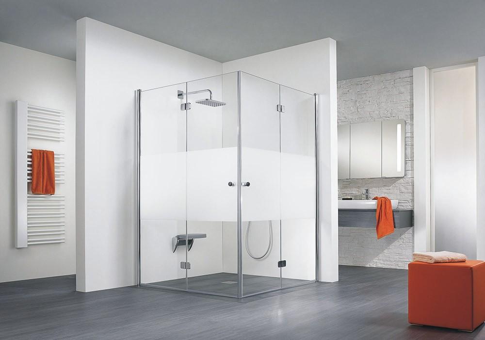 hsk duschkabine exklusiv c eckdusche 2 drehfaltt ren. Black Bedroom Furniture Sets. Home Design Ideas