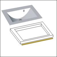Stone-Plus Waschtisch + LED | Ausgefräste Ausführung