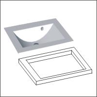 Glaswaschtisch | Ausgefräste Ausführung