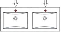 Mit Hahnloch für alle Doppel Waschtische