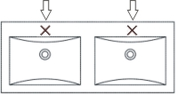 Ohne Hahnloch für Glas Doppel-WT