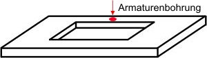 Plattenausschnitt | Für V&B Loop Oval | Mit Hahnlochbohrung
