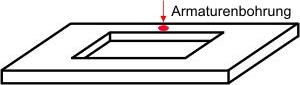 Plattenausschnitt | Für V&B Loop Eckig | Mit Hahnlochbohrung