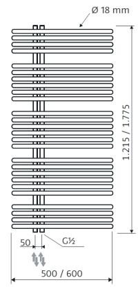 60 x 121,5 cm | 1133 Watt