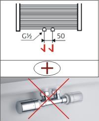 Mittelanschluß | Variante A - Ohne Thermostat Set