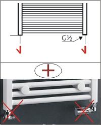 Seitenanschluß | Variante D - Ohne Thermostat