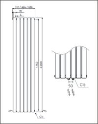 46,4 cm x 200 cm | 1127 Watt