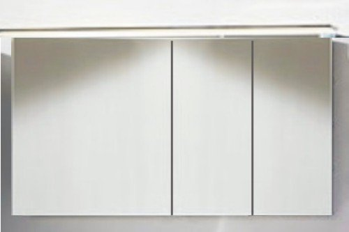 Marlin Bad 3160 - Motion Spiegelschrank A 120 cm Rechts mit 3 Türen +  Aufsatzleuchte