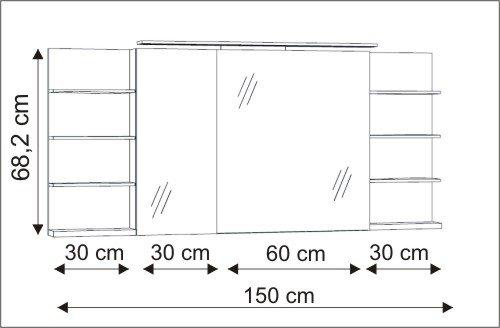marlin bad 3160 motion spiegelschrank reduziert ssfr36r. Black Bedroom Furniture Sets. Home Design Ideas