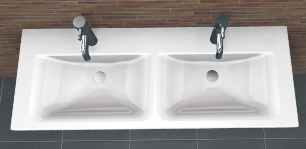 PCON Doppel-Waschtisch H | Ideal Standard Connect | 130 cm