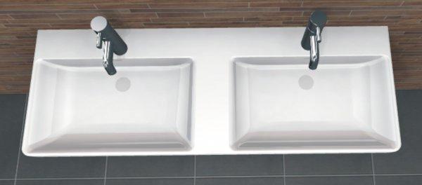 PCON Doppel-Waschtisch L   Laufen Pro S   130 cm