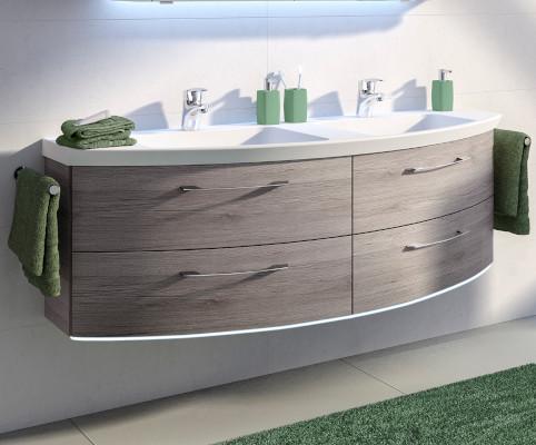 Badmöbel Set Mit Spiegelschrank Günstig: Badmöbel set mailand mit ... | {Badmöbel doppelwaschtisch günstig 67}