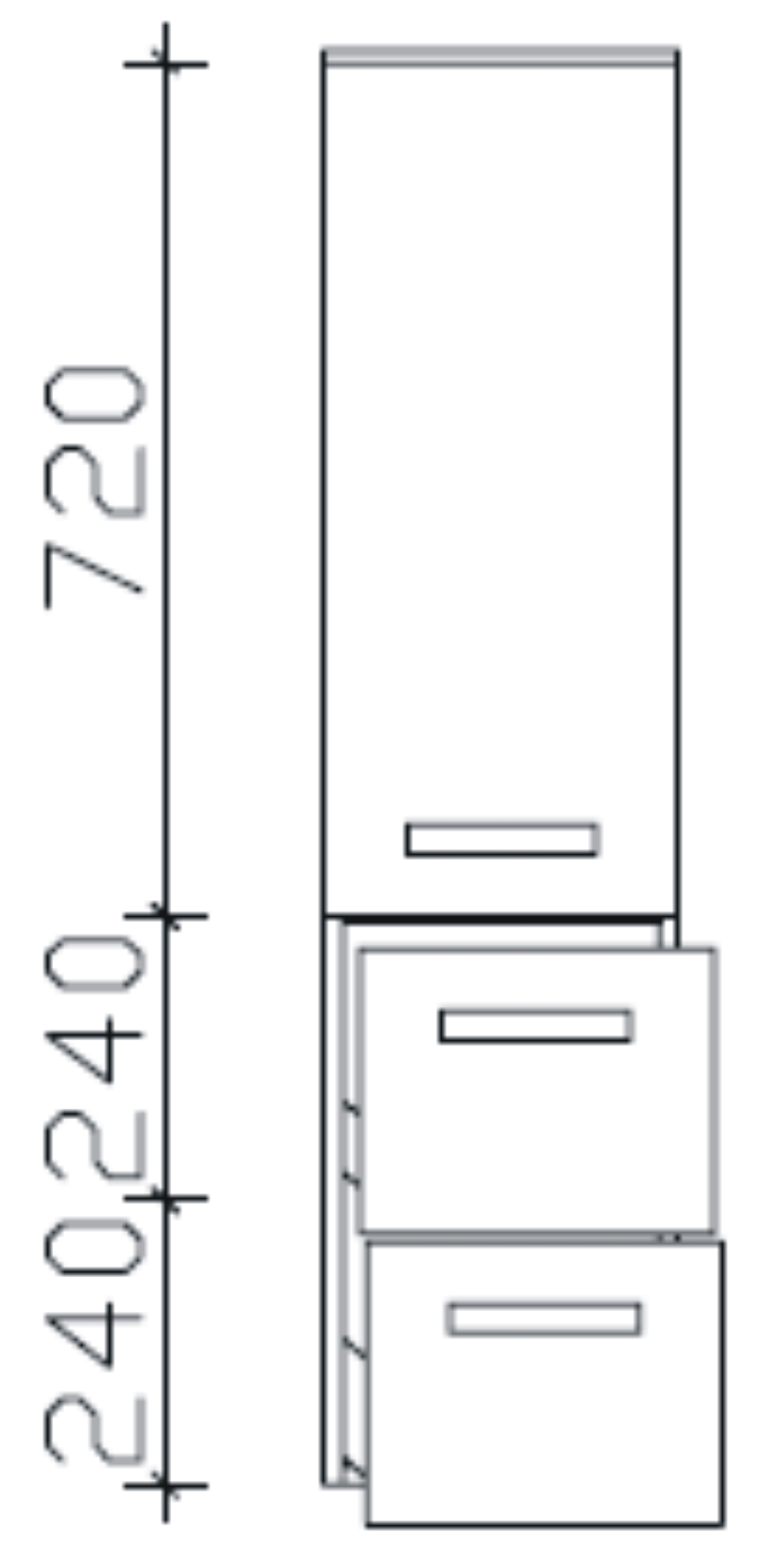 midischrank fokus 4005 badschrank g nstig arcom center. Black Bedroom Furniture Sets. Home Design Ideas