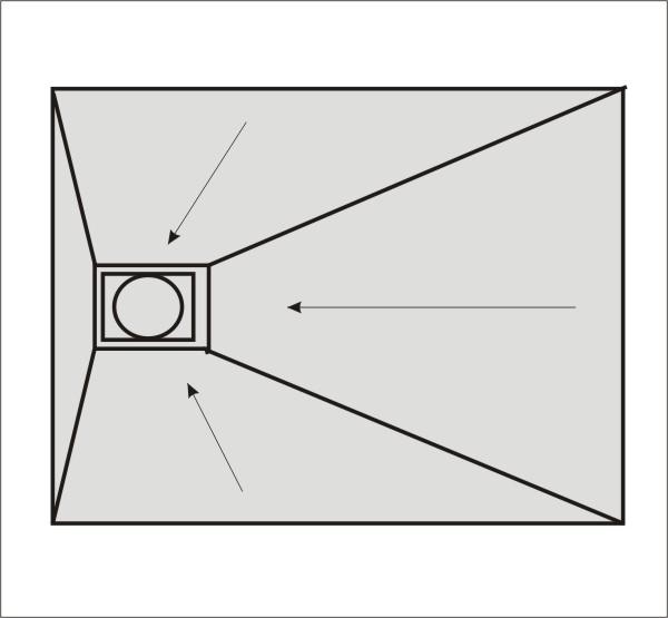 befliesbares duschelement 150 x 90 cm ablauf seitlich arcom center. Black Bedroom Furniture Sets. Home Design Ideas
