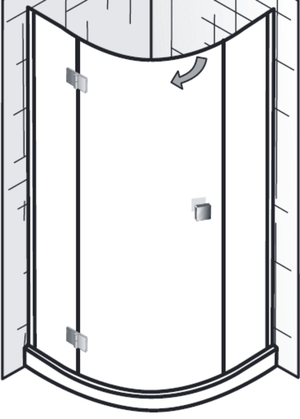 hsk duschkabine atelier b viertelkreis dusche 1 t r arcom center. Black Bedroom Furniture Sets. Home Design Ideas