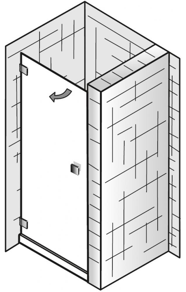 hsk atelier pur duschkabine nischent r arcom center. Black Bedroom Furniture Sets. Home Design Ideas