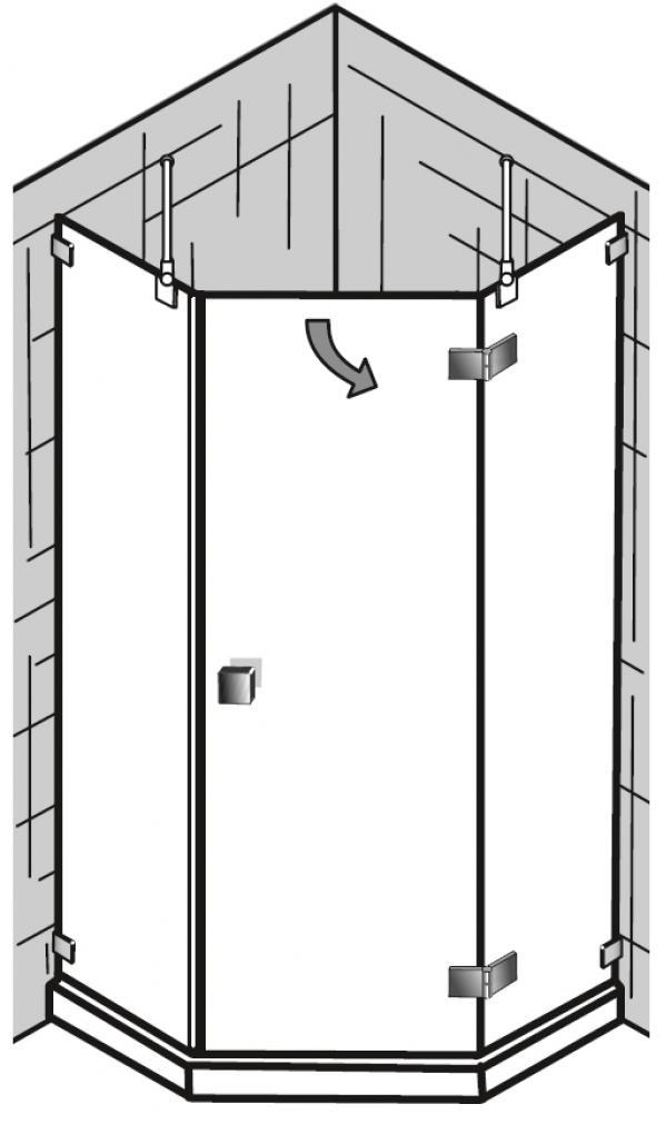 hks duschkabine atelier pur f nfeckdusche arcom center. Black Bedroom Furniture Sets. Home Design Ideas