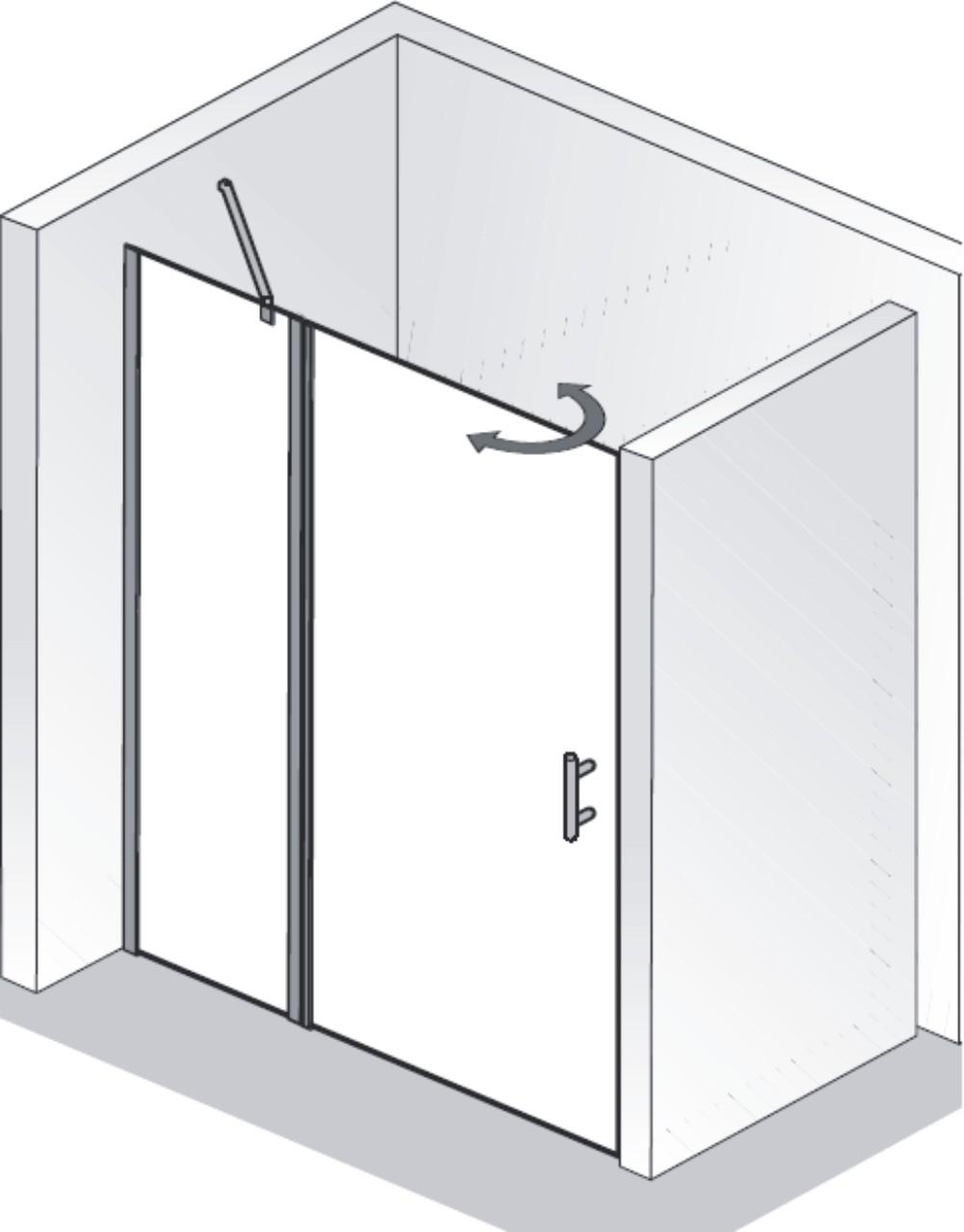 hsk duschkabine favorit nova c nischendusche 1 dreht r arcom center. Black Bedroom Furniture Sets. Home Design Ideas