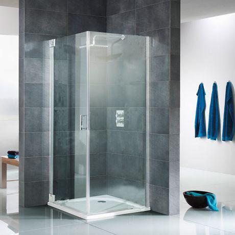 Duschkabine drehtür mit seitenwand