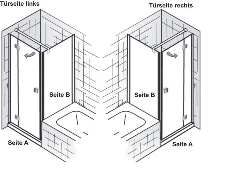 Dusche Seitenwand Freistehend : ... Premium Softcube C Rechteck Dusche ...