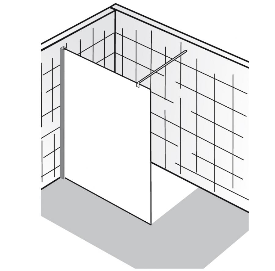 hsk duschkabine walk in atelier arcom center. Black Bedroom Furniture Sets. Home Design Ideas