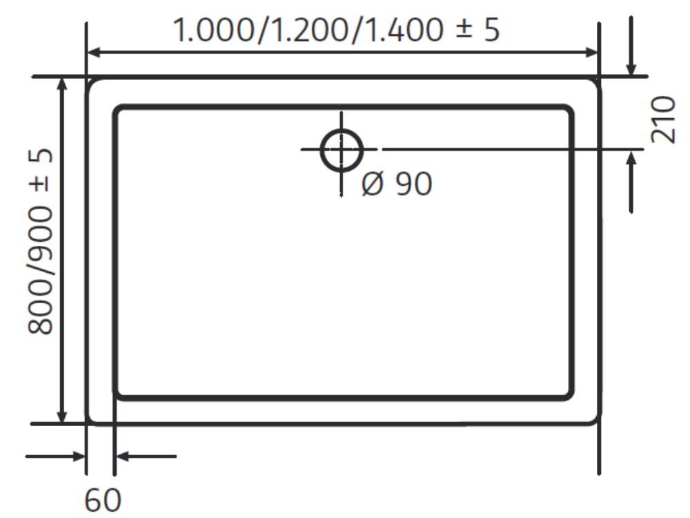 hsk duschwanne 80 100 cm superflach marmorpolymer. Black Bedroom Furniture Sets. Home Design Ideas