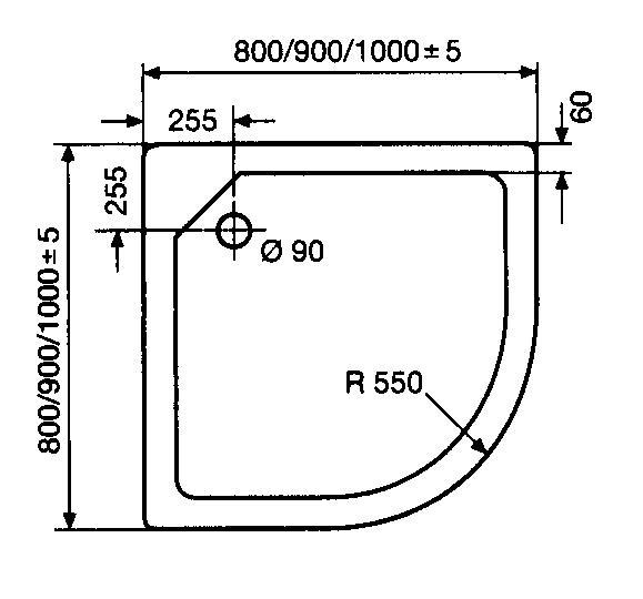 hsk duschwanne 80 80 cm superflach arcom center. Black Bedroom Furniture Sets. Home Design Ideas