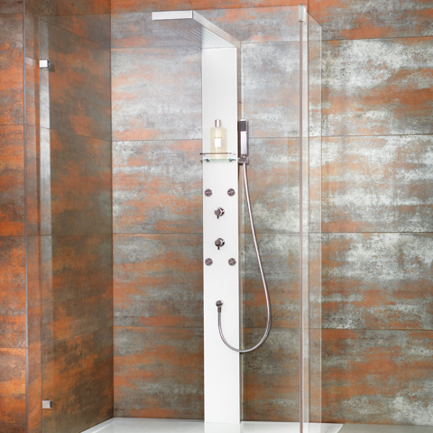 hsk lavida duschpaneel mit traverse arcom center. Black Bedroom Furniture Sets. Home Design Ideas