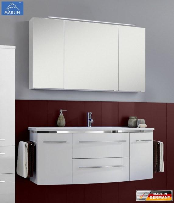 marlin bad 3040 city plus spiegelschrank c led beleuchtung ll94 120 cm arcom center. Black Bedroom Furniture Sets. Home Design Ideas