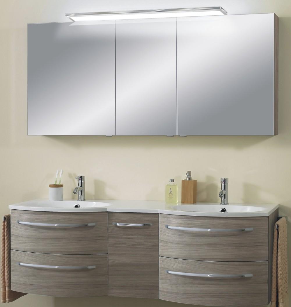 marlin bad 3090 cosmo spiegelschrank 150 cm mit led arcom center. Black Bedroom Furniture Sets. Home Design Ideas