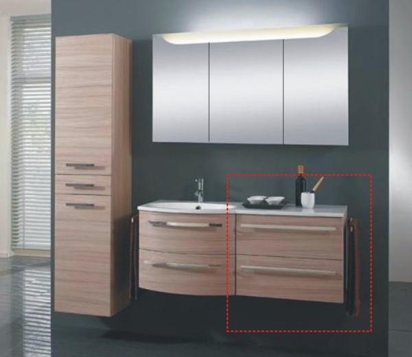 marlin cosmo wt unterschrank 60 cm gerade mit 2 ausz gen. Black Bedroom Furniture Sets. Home Design Ideas