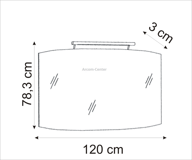marlin bad 3100 scala spiegelpaneel 120 cm arcom center. Black Bedroom Furniture Sets. Home Design Ideas