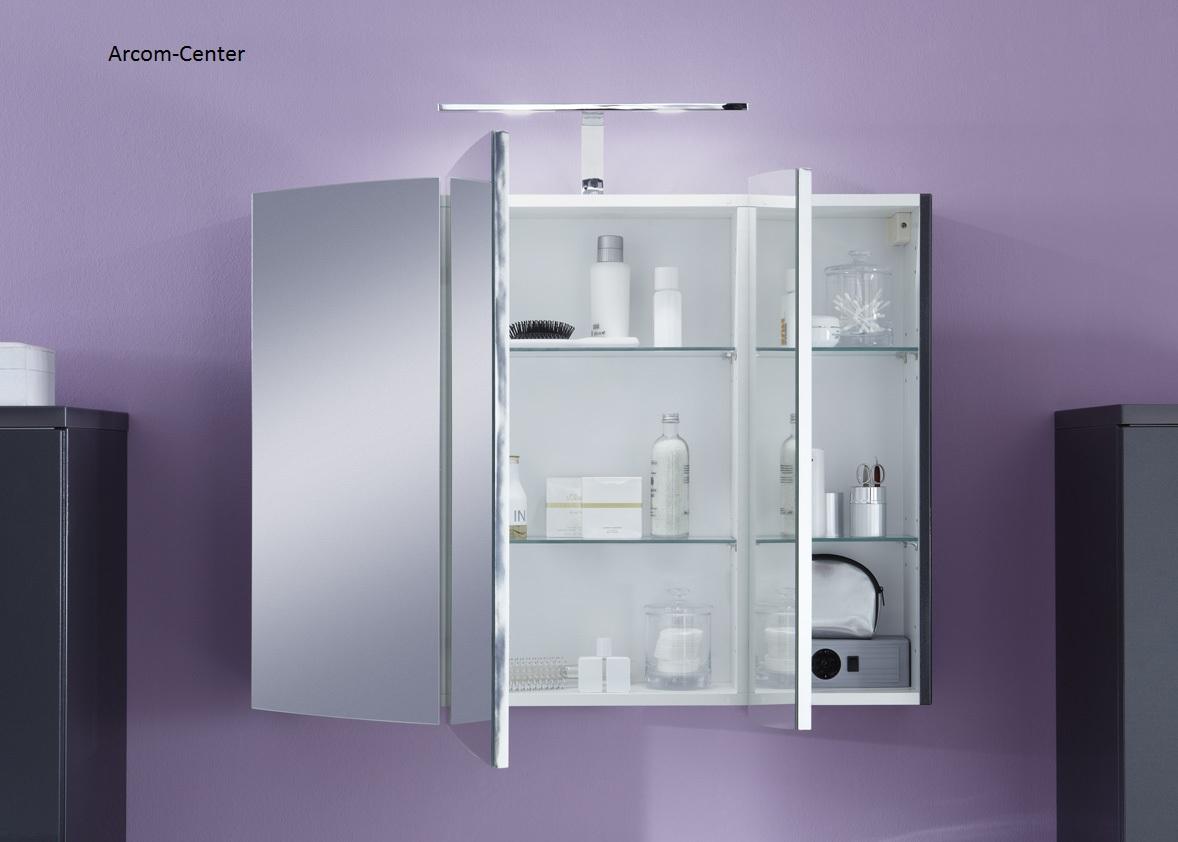 marlin bad 3100 scala spiegelschrank 90 cm mit led band. Black Bedroom Furniture Sets. Home Design Ideas